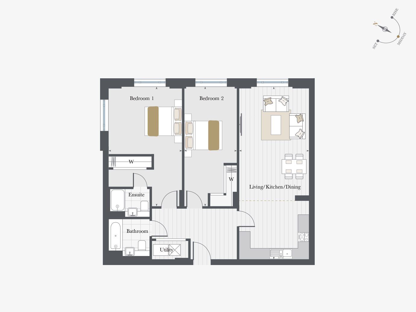 Floorplan for Apartment P0/01 at City Wharf, Ground